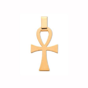 9ct Gold plain flat ankh Cross Pendant 2g